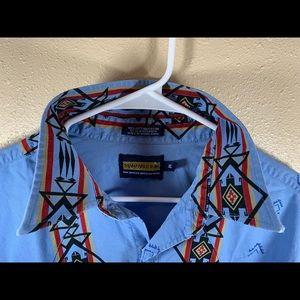 Panhandle Slim Aztec Short Sleeve Pearl Snap XL